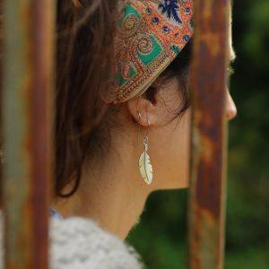 Boucles d'oreilles – Plume